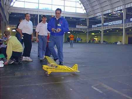 A large hall was set aside for indoor flying...