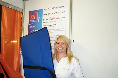 The lovely Kate shows Stu's smart model bags. Suitable for F3B/F3F machines with 2-piece wings.