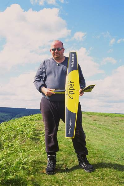Hole of Horcum: Andy with Zipper. Great finish and graphics.