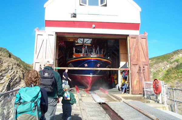 The lifeboat station.
