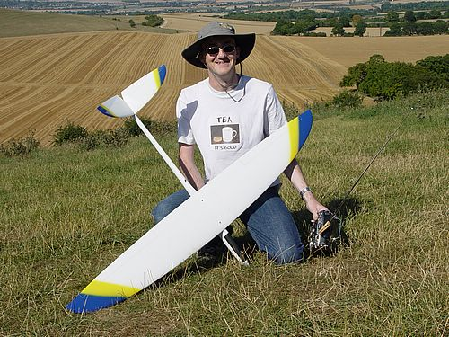Mark Greenwood with his Mini Nyx. Lightweight, fast and aerobatic.