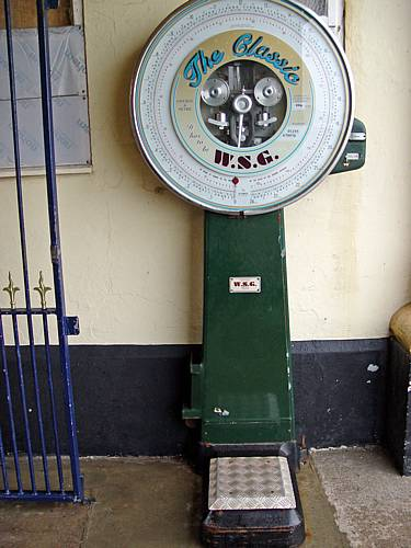 This impressive old weighing machine was at the entrance to the pier.