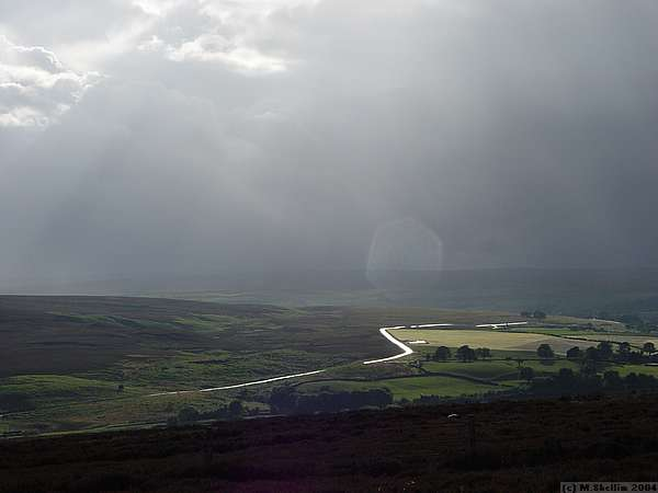 View over a damp moor.
