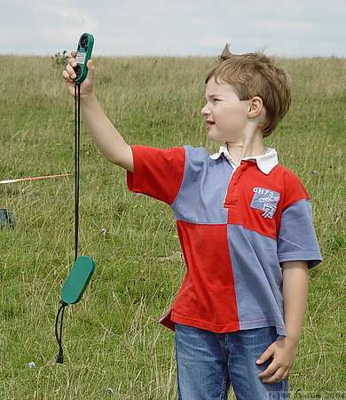 Young master Davis in charge of the wind meter