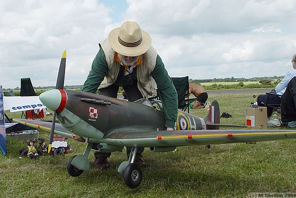This Spitfire was beautifully finished but not yet ready to fly.