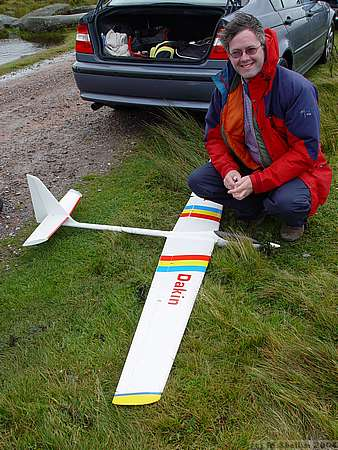 Greg Dakin won the comp with his Race M. Seen here before the comp, with Vector aerobat.