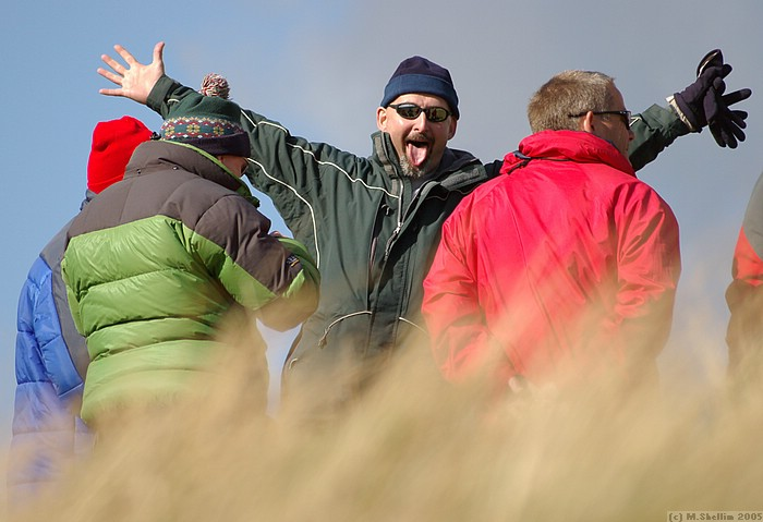Paul Fram enjoying a Eureka moment. Paul was one of the main organisers, giving up the chance to fly.
