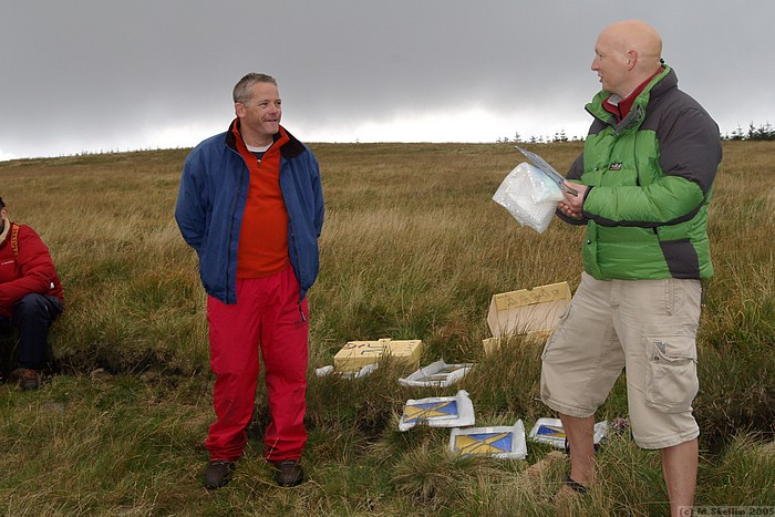 The presentations: John Phillips (left) did a fine job as CD in difficult weather conditions.