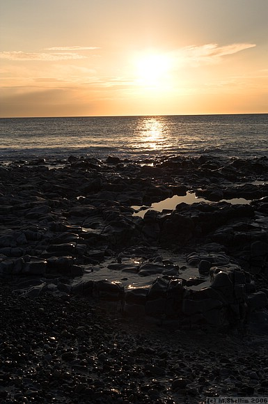 Sunset, Ogmore on Sea