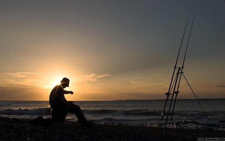 Fishing, Ogmore-on-Sea