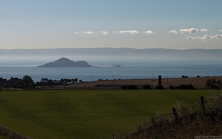AFTER THE COMP Morning view approaching Caravan site at Kinghorn