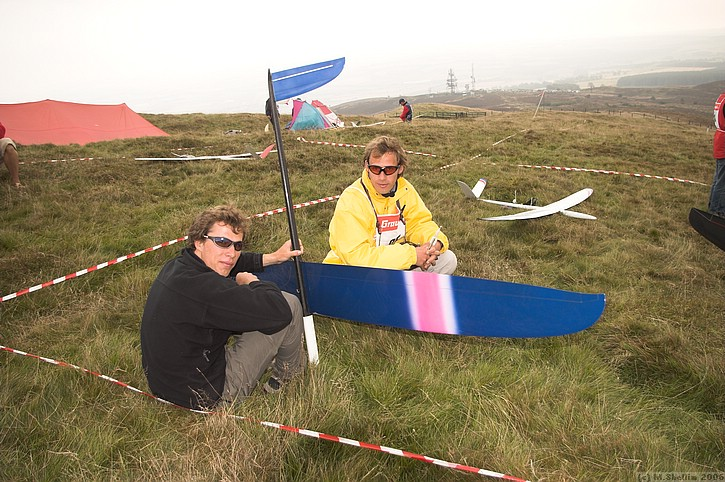 Martin and Andreas. Flying new Radical design.