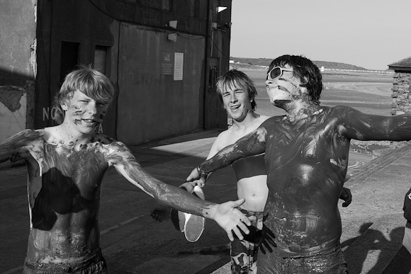 The aftermath of a mud bath. Porthcawl beach.