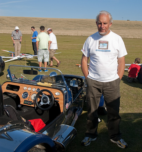 Steve Dorling with his gorgeous Westfield Lotus 7. Somehow he shoehorned five models into it.