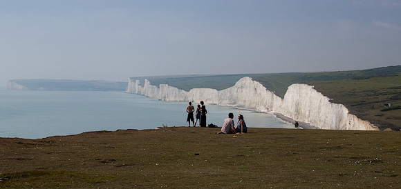 Saturday: Almost calm. So we retired to Birling Gap for some cliff soaring fun. This a view of the Seven Sisters.