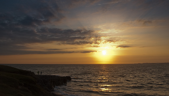 Sunset at Ogmore on Sea
