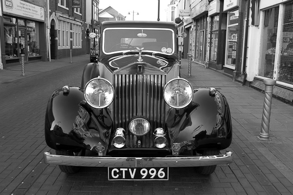 1937 Rolls Royce 3 Seater, beautifully restored. Belongs to a shop owner, used to ferry stock.