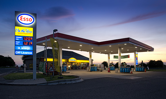 AFTER HOURS - Esso service station, near Mere