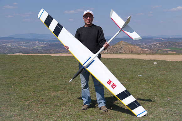Yours truly with original (foam) Vector aerobat.