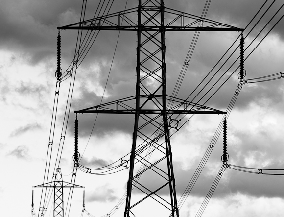 Pylon near Selby