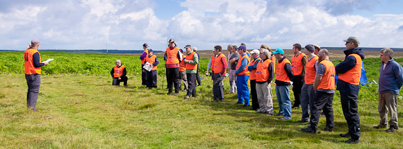 DAY ONE (Saturday): Pilots briefing at the Levisham slope