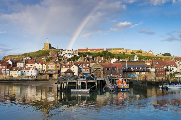 AFTER HOURS in Whitby: Double rainbow (just!)
