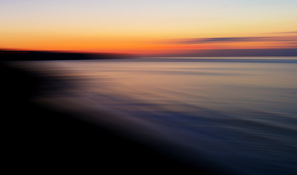 Sunset from N. Promenade, Whitby. 1/8 sec, panned. THE END.